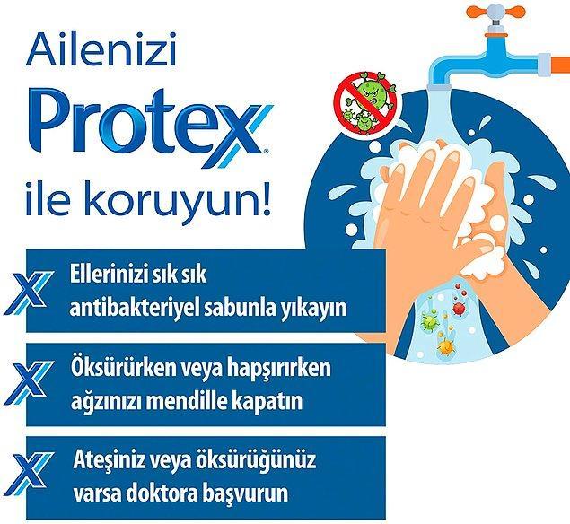 11. Protex ultra koruma sıvı sabun, bakterilerin %99.9'unu yok ediyor ve haftanın en çok satan sabunu oluyor.
