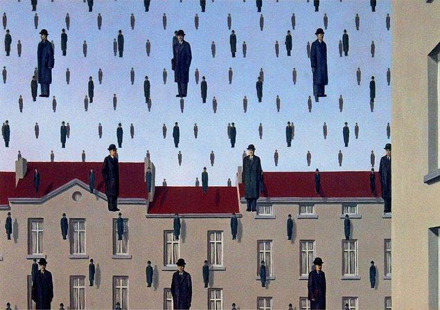 """Fauves parodileri olarak kabul edilen kasıtlı olarak kışkırtıcı """"vahşi"""" bir tarzla yaptığı kısa deneylerle geçen 1950'lerin ardından Magritte karakteristik stiline ve konu setine geri döndü ve yalnızca 1960'larda tam altı büyük retrospektif yarattı."""