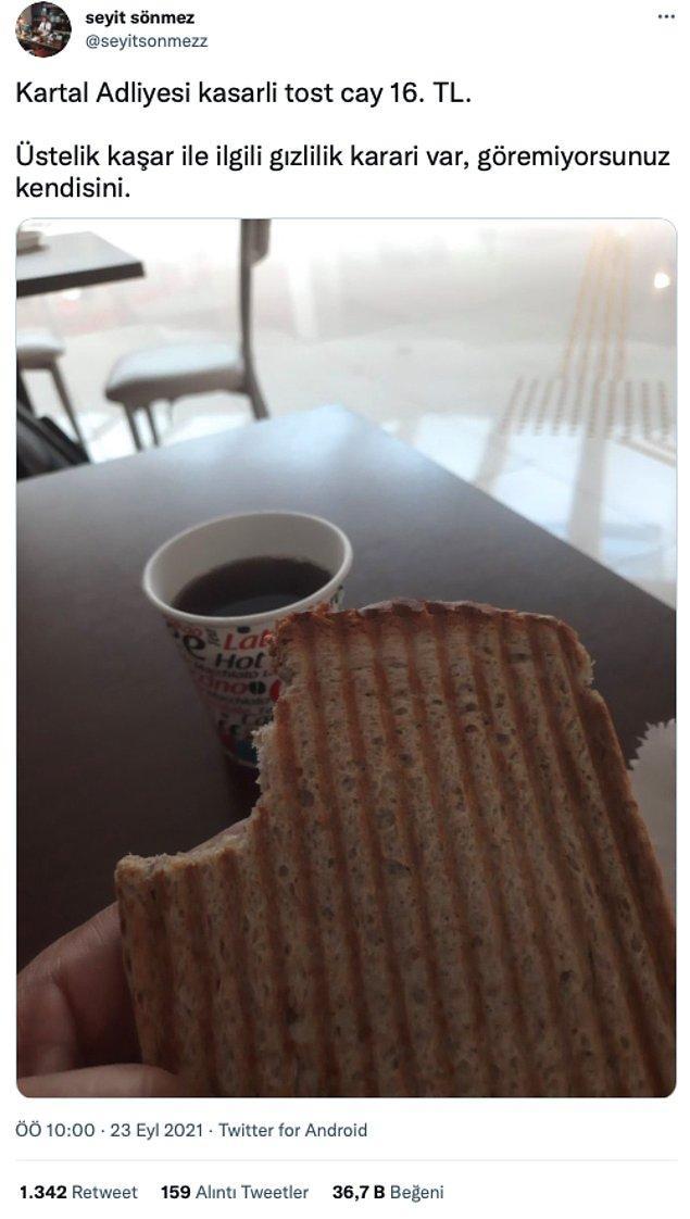 10. Kaşarsız kaşarlı tostlar, ömrümüzü yediniz...