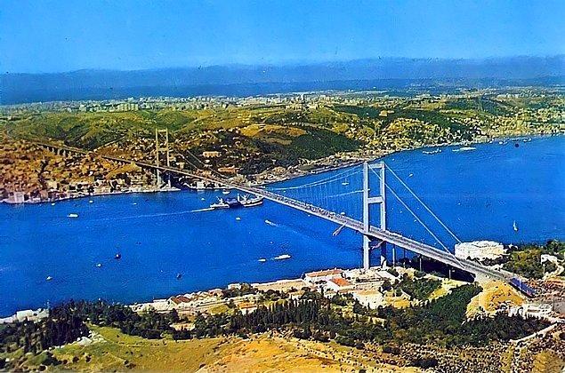 2. Boğaziçi Köprüsü, İstanbul, 1973.