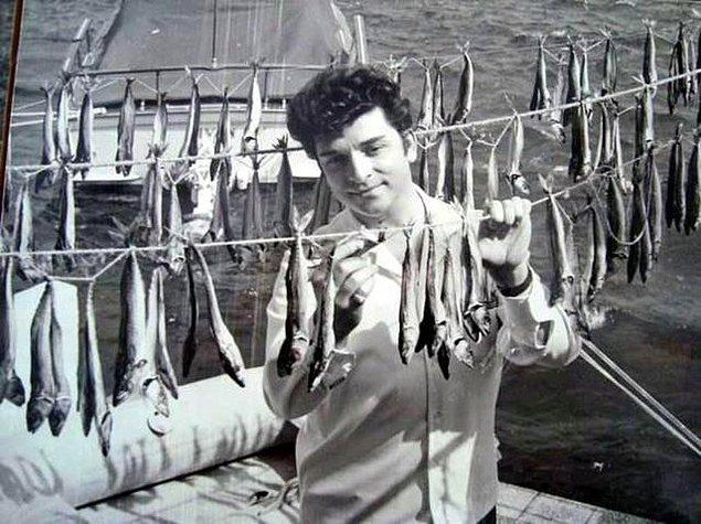 24. Balık kurutan beyefendi, Bodrum, 1960.