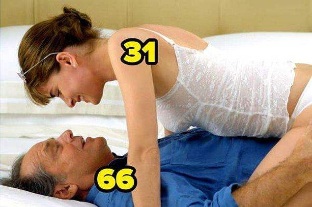 14. Aşkta Her Şey Mümkün'de, Jack Nicholson'un yaşı, Amanda Peet'inkinin iki katından bile fazlaydı.