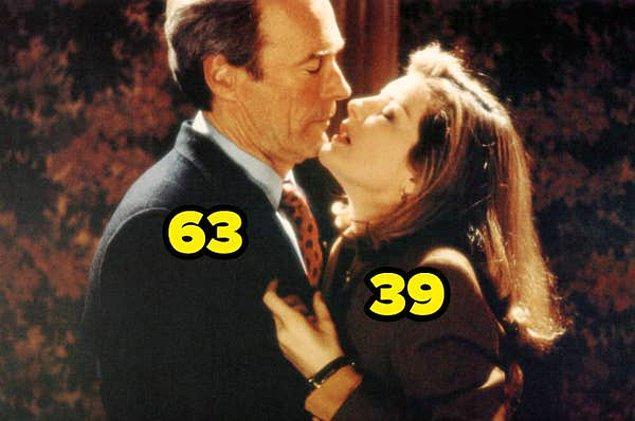 16. Herkesçe tanınan Clint Eastwood, Ateş Hattında filminde 63 yaşındayken Rene Russo 39 yaşındaydı.