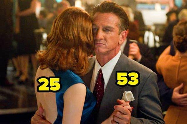 17. Suç Çetesi filminde 25 yaşındaki Emma Stone'u, hem 33 yaşındaki Ryan Gosling'in hem de 53 yaşındaki Sean Penn'in partneri rolünde izledik.