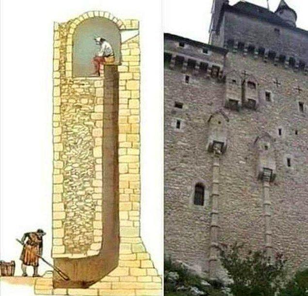 4. Ortaçağ'da inşa edilen kalelerin tuvaletleri: