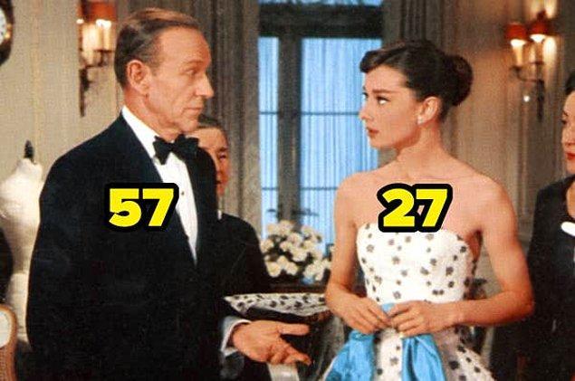 24. 1957 yapımı Şahane Macera'da, Fred Astaire ve Audrey Hepburn arasında 30 yaş vardı.