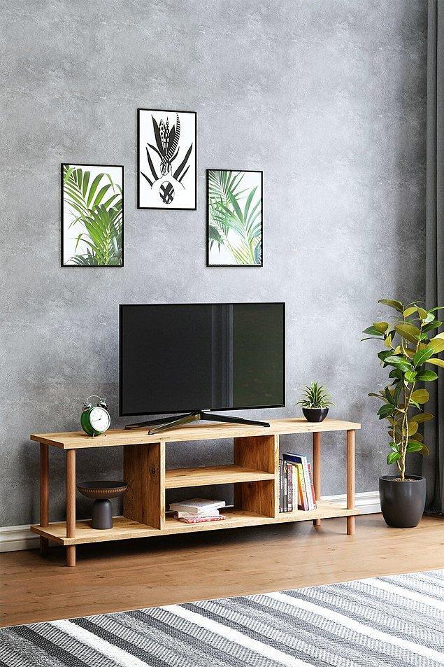 10. Her eve yakışacak ve sığacak bir TV ünitesi.