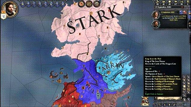 13. A Game of Thrones Mod (Crusader Kings 2)