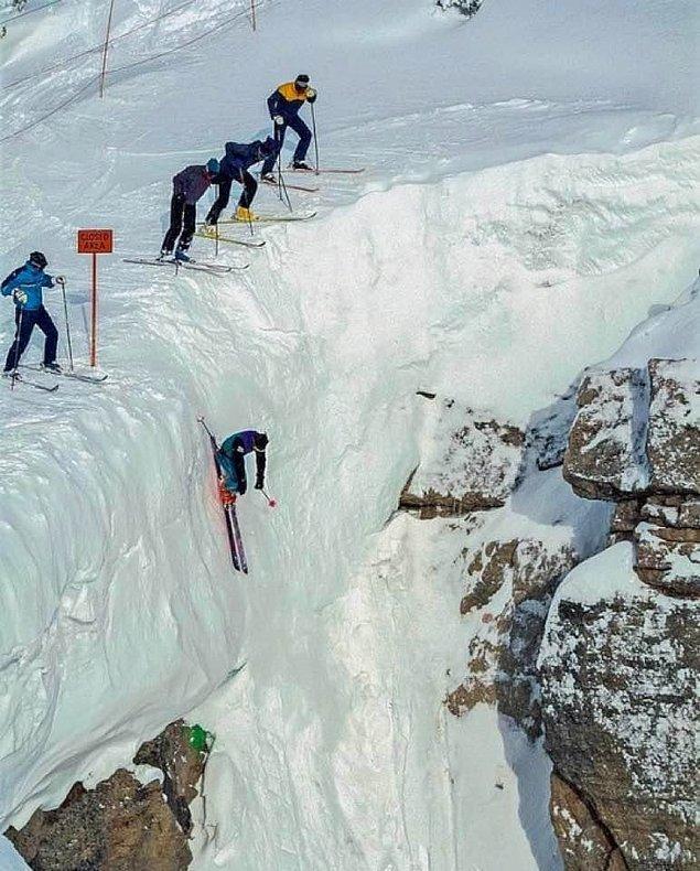 4. Kayak yaparken bu düz patikaya denk gelmek...