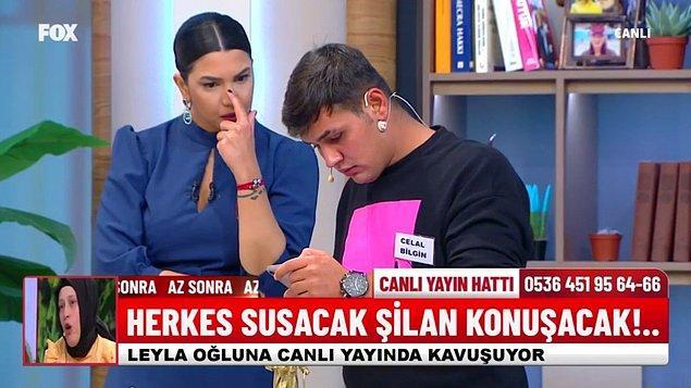 Bununla yetinmeyen Celal Bilgin, canlı yayında söz konusu porno videoyu sunucu Fulya Öztürk'e cep telefonundan izletmeye çalıştı.