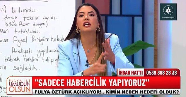 İki gün önce Fatih Portakal'ın yaptığı bu paylaşıma Fulya Öztürk'ten bugün çok ciddi bir cevap geldi. Öztürk, canlı yayın esnasında neredeyse sinir krizi geçirdi.