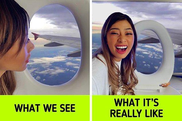 1. Uçak yolculuğu estetiği.
