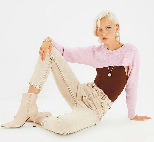 2. Taba yüksek bel mom jeans.🤤
