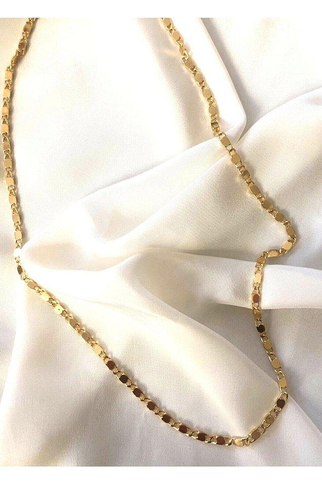 7. Zincir kolye sevenlere ince ve zarif bir alternatif...
