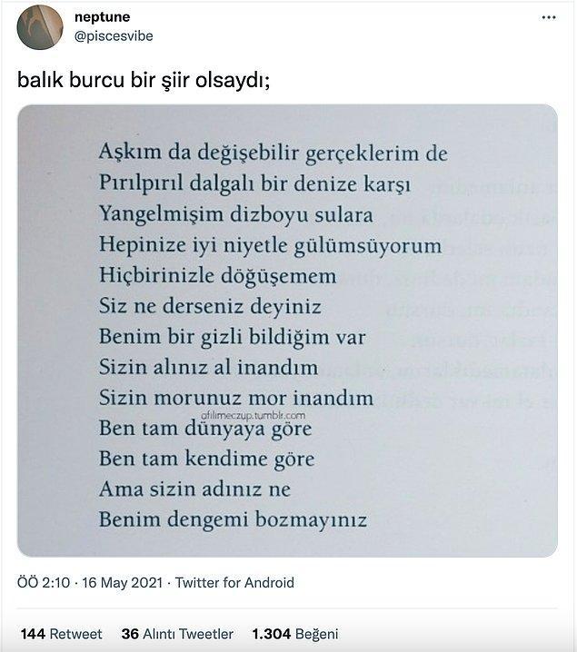 3. Harika bir şiir gerçekten...