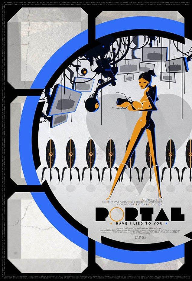 1. Valve'ın hikayesiyle benim diyen filmlere taş çıkartacak serisi Portal'ın afişleri de oyunları kadar güzel görünüyor.