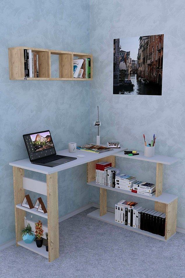 14. Evimde çok yerim yok ama çalışma alanına çok ihtiyacım var diyenler için aşırı kullanışlı bir mobilya önerimiz var.