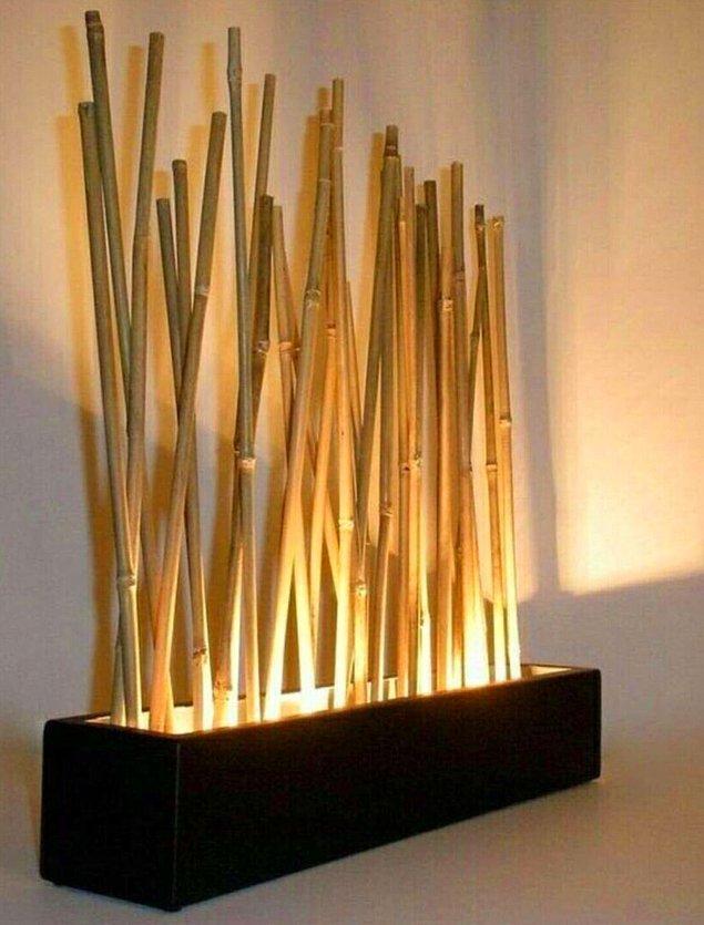 Aydınlatmalı dekoratif bambuların evinize çok yakışacağını düşünüyoruz!