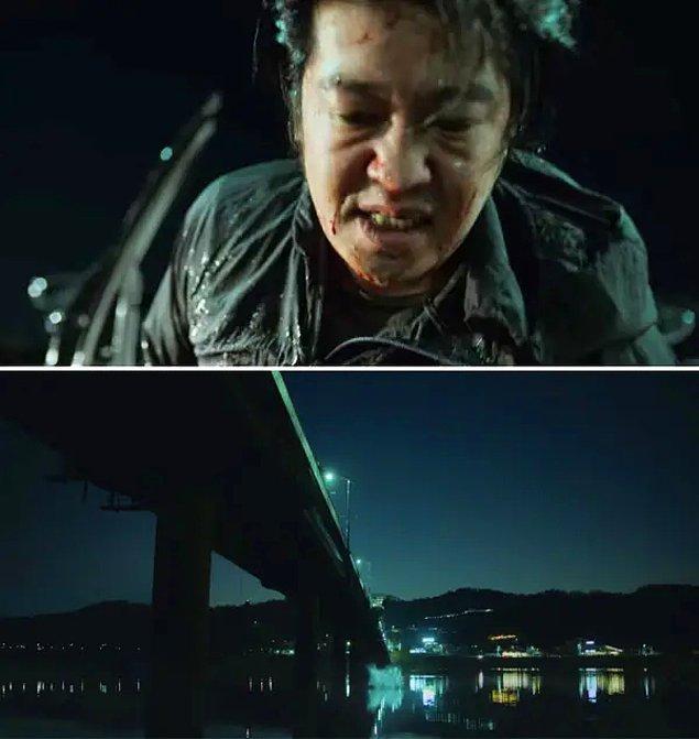 2. bölümde oyun iptal olduktan sonra oyuncular gerçek dünyaya geri döndüklerinde Deok-su, onu öldürmeye çalışan kişilerden bir köprüden suya atlayarak kaçar.