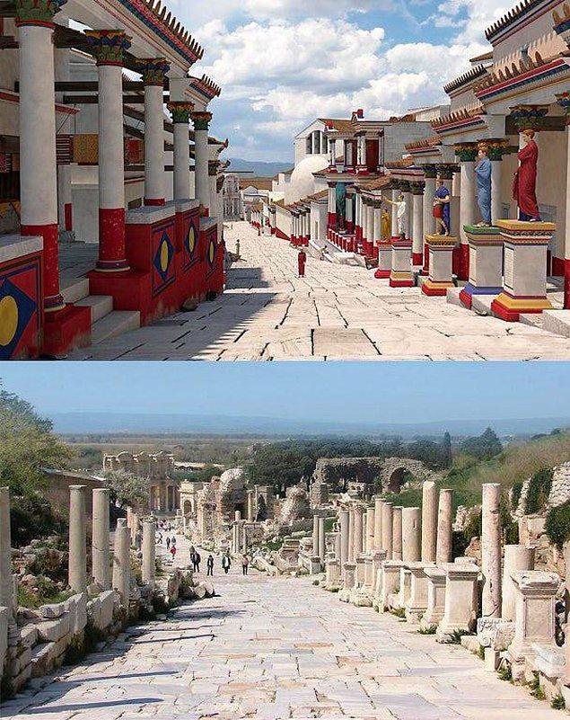 11. Efes bugün bir yerleşim yeri olsaydı böyle olacakmış.