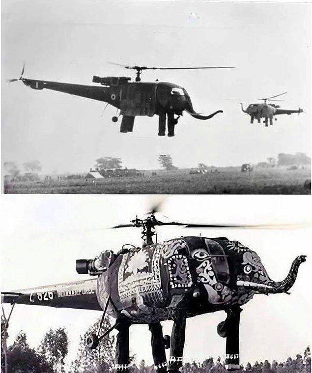 15. Vaktiyle Hindistan Havayollarına ait böyle bir helikopter varmış.