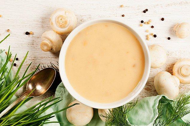 Kremalı Mantar Çorbası Malzemeleri