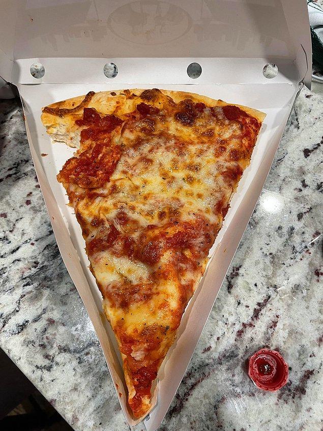 """9. """"Arkadaşım pizzamdan bir ısırık almak istedi."""""""