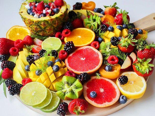 12. Meyve ve şekerli gıdalar