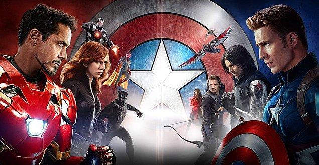 10. Captain America: Civil War (Kaptan Amerika: Kahramanların Savaşı) - IMDb: 7.8