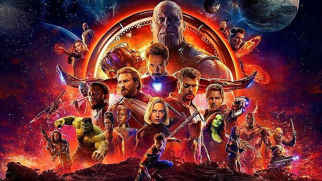 2. Avengers: Infinity War (Yenilmezler: Sonsuzluk Savaşı) - IMDb: 8.4