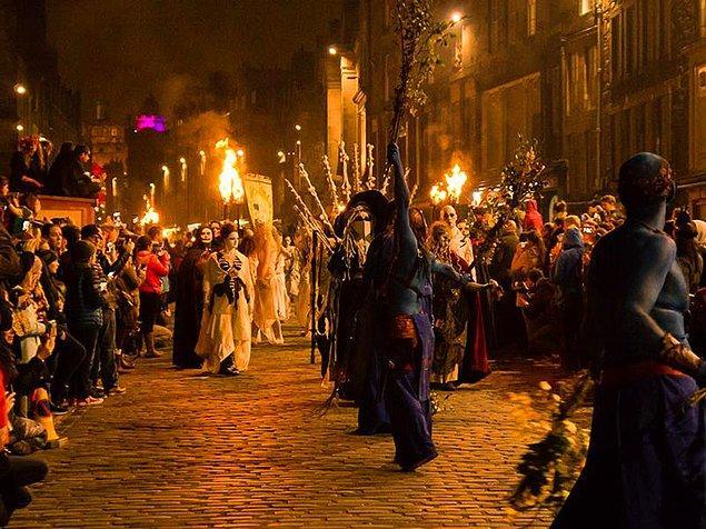 1. Samhain Ateş Festivali - İskoçya ve İrlanda