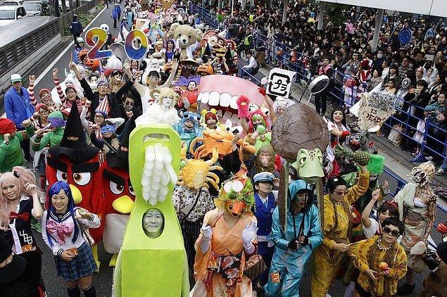 4. Kawasaki Cadılar Bayramı Geçit Töreni - Japonya