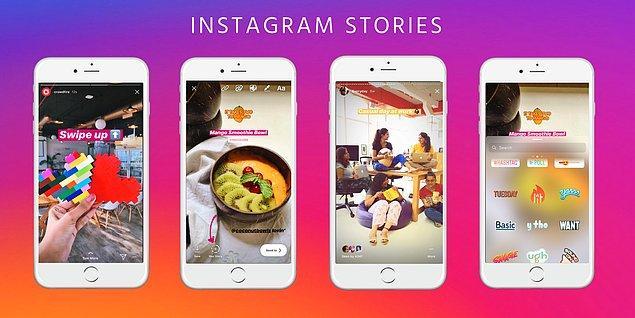 Instagram bunu görmüş olacak ki hikayeler kısmına büyük bir yenilik getiriyor.