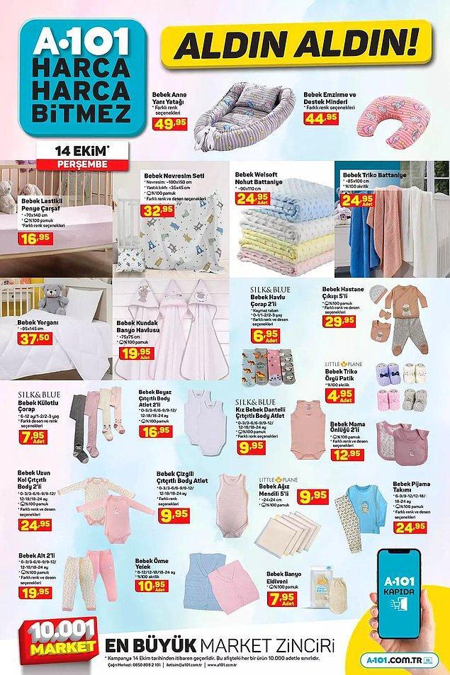 Bebekleriniz için ihtiyacınız olabilecek hemen hemen her şey de satışta olacak;