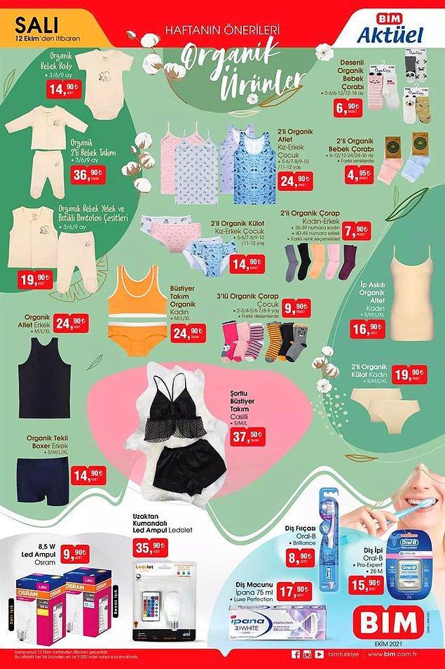 Bu hafta BİM'de Organik Bebek Yelek ve Patikli Pantolon Çeşitleri 19,90 TL.