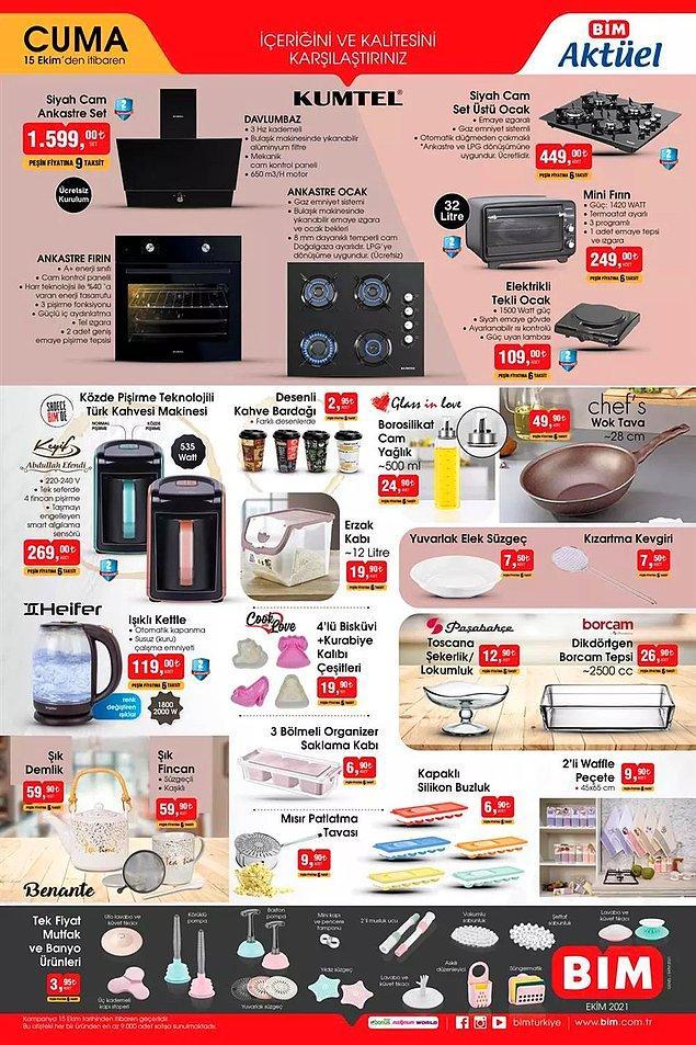 Mutfak ve banyo ürünlerinde tek fiyat kampanyası var. Her biri 3,95 TL.