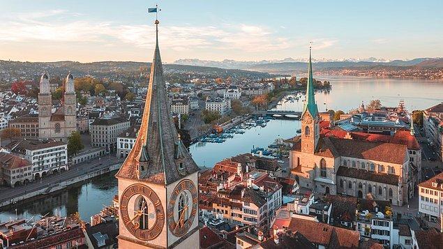 Diğer gözde şehirlere kıyasla daha küçük bir şehir olan Zürih, tarihi yapısının yanı sıra doğayı da içinde barındıran bir şehir.