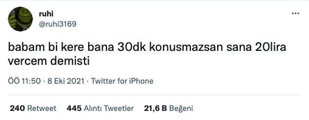 12. 20 lira az, en az 100 lira olması lazım.