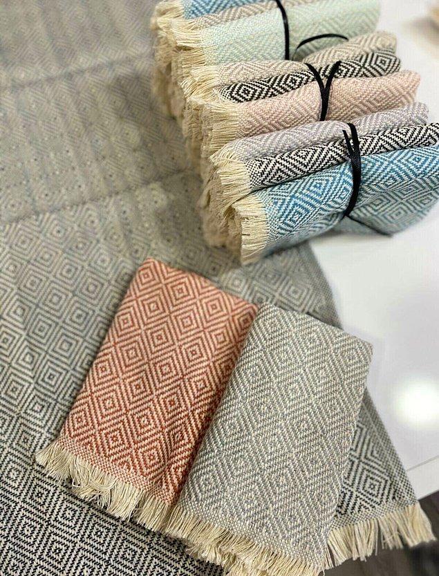 8. Mutfak tekstil ürünlerini de unutmayalım.