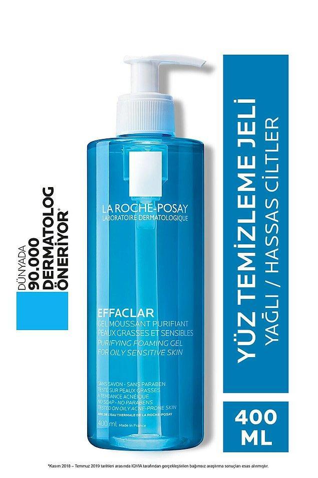 9. La Roche Posay Effaclar yüz temizleme jeli dermatologların en çok önerdiği markalardan.