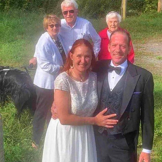5. 96 yaşındaki anneannesi düğününe gelemeyince düğünü ayağına götürmüş...