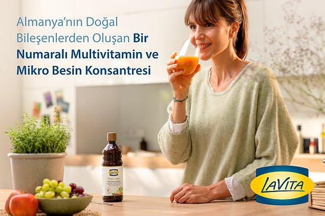 Tam da aradığımız bu özellikleri karşılayacak bir ürün var. Almanya'nın, doğal bileşenlerden oluşan, #1 numaralı multivitamini ve Mikro Besin Konsantresi ürünü LaVita şimdi Türkiye'de!