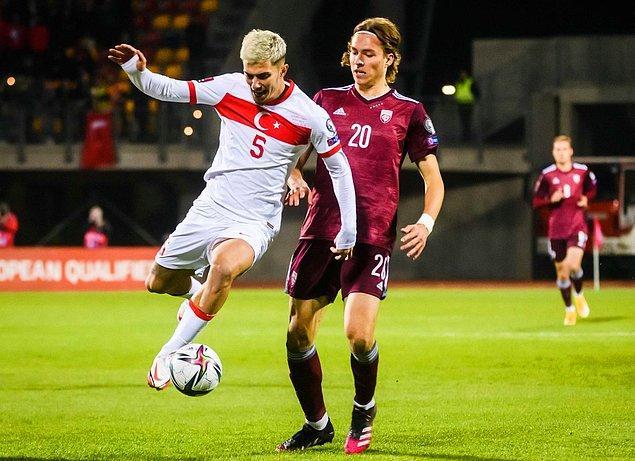 A Milli Takımımız, 2022 FIFA Dünya Kupası Avrupa Elemeleri G Grubu 8. maçında Letonya ile karşılaştı