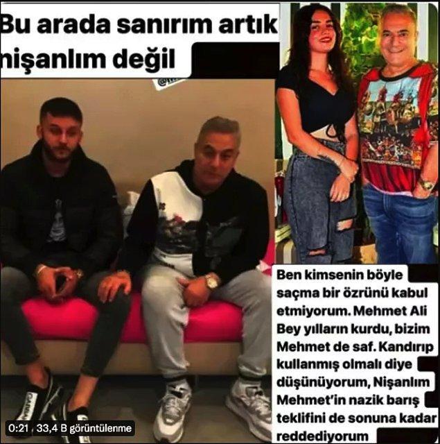Tüm bu olaylar gürültülü bir şekilde devam ederken Mehmet Ali Erbil, Ece Ronay'ın nişanlısı Mehmet Bilir ile bir video çekip uzlaştıklarını gösterdi. Ece Ronay'ın tabii ki bu durumdan haberi yoktu ve bu uzlaşmayı kesin bir dille reddetti.