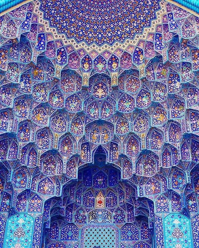 9. İran, İsfahan'daki Shah Camii'nin içinden muhteşem detaylar: