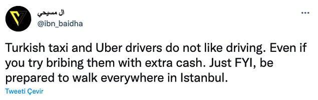 """9. """"Türk taksiciler ve Uber şoförleri araba kullanmayı sevmiyorlar. Ekstra para teklif etseniz bile. Bu yüzden her yere yürümeye hazırlıklı olun."""""""