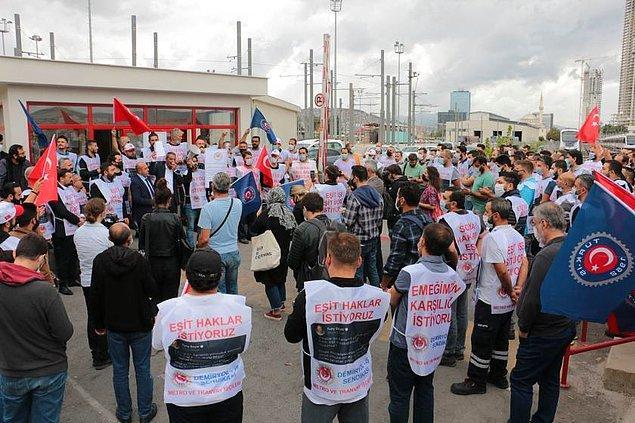 'Belediyenin diğer şirketlerine verilen hakları istiyoruz'