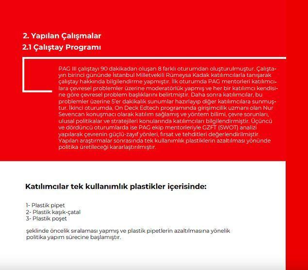 Raporun 1. sayfası ön kapak, 9. sayfası arka kapak ve 8. sayfası da kaynakçadan oluşuyor. Kaynakça da drive linki.