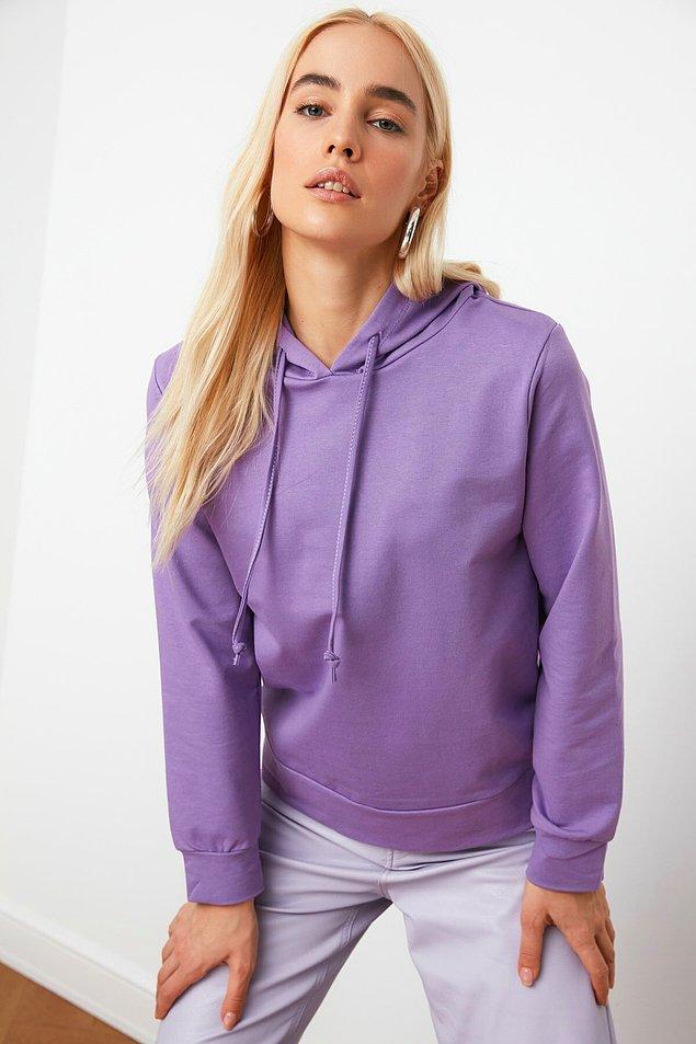 1. İçi tüylü, sıcacık bu sweatshirtlere bayılıyoruz.