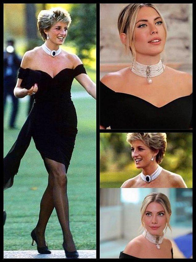 2. Prenses Diana'nın Prens Charles'dan boşanınca giydiği intikam elbisesi bu sefer Eda Ece'nin üzerinde!
